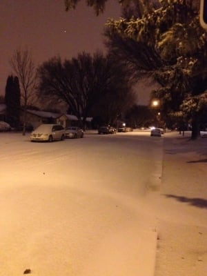 Saskatoon First Snow