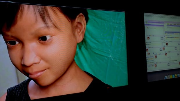 A computer-generated image of Sweetie, a made up 10-year-old girl from the Philippines who was created by the human rights organization Terre des Hommes in order to catch child predators. The initiative was part of a campaign to expose what the group says is an epidemic of children being paid to perform sexual acts via webcams. The group says Sweetie was bombarded with online offers to pay for webcam sex shows by child predators from around the world, including more than 50 Canadians.