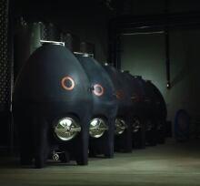 Egg shaped concrete casks