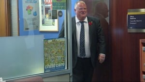 Mayor Rob Ford seen at city hall on Nov. 4, 2013