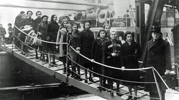 Several groups in the UK organized rescue missions to get Jewish children up to age 17 to safety before the war with Germany began. These refugees landed in London in February of 1939. Hamilton's Lore Jacobs was just a few months behind.