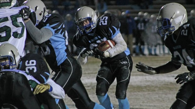 Holy Cross beat Walter Murray 22-15 in the 4A City Championship.