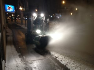 Snowblower downtown