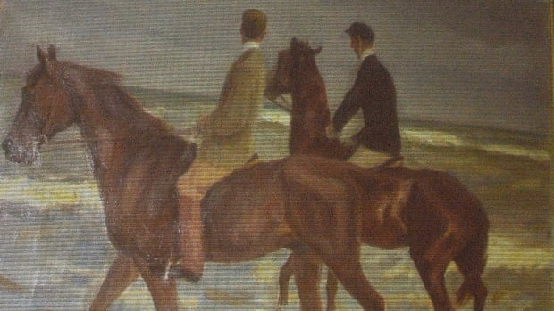The Max Liebermann painting Zwei Reiter am Strande (Two riders on the beach) is among the more than 1,400 works discovered in Cornelius Gurlitt's Munich apartment.
