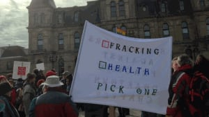 Shale gas protest at legislature
