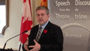Premier David Alward delivered the throne speech on Tuesday