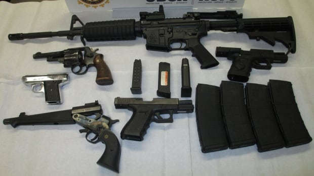 Border agents seized six guns and magazines at the North Portal, Sask, border point.