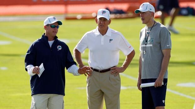 Questions are being raised over whether negligence from Miami Dolphins management, including GM Jeff Ireland, left, owner Stephen Ross, centre, and head coach Joe Philbin, played a role in allowing issues between Jonathan Martin and Richie Incognito to fester. The team suspended Incognito Sunday for misconduct related to the treatment of teammate Martin, who abruptly left the team a week ago to receive help for emotional issues.