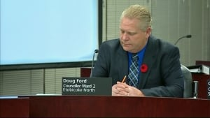 Coun. Doug Ford seen the day after the mayor's crack admission