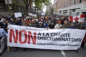 Quebec Charter of Values protest