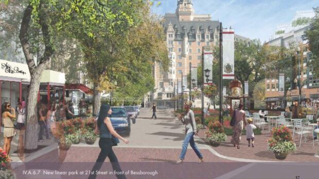 Saskatoon's City Centre Plan proposes more public spaces for the city's core.
