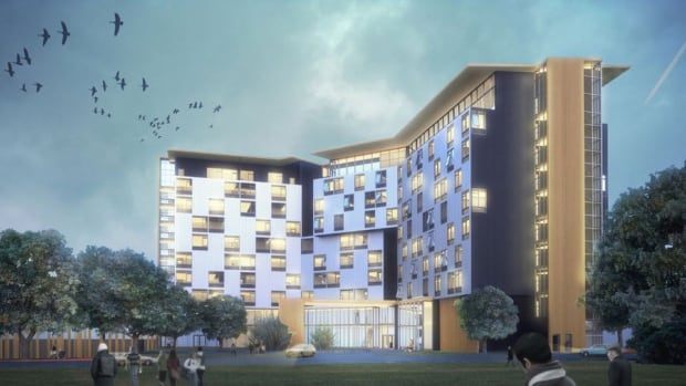 Artist's rendition of U of S hotel project