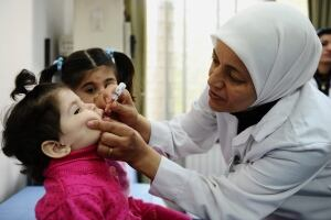Mideast Syria UN Polio
