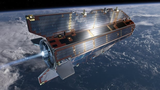 GOCE orbit is so low that it experiences drag from the outer edges of Earth's atmosphere. The satellite's streamline structure and use of electric propulsion system counteract atmospheric drag to ensure that the data are of true gravity.