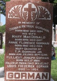 Joseph Gorman grave