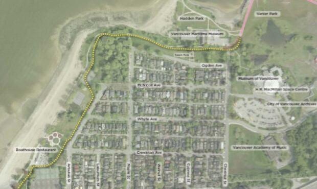 Kitsilano Beach Park and Hadden Park bike path