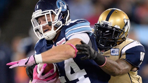 Argonauts running back Chad Kackert, who hurt his left ankle at Friday's practice, has missed time this season with knee and shoulder injuries as well as a concussion.