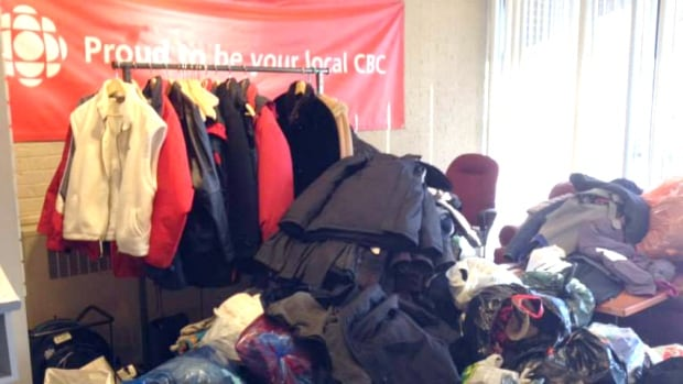 Coats continue to pile up in our lobby during our drive for the Drop-In Centre.