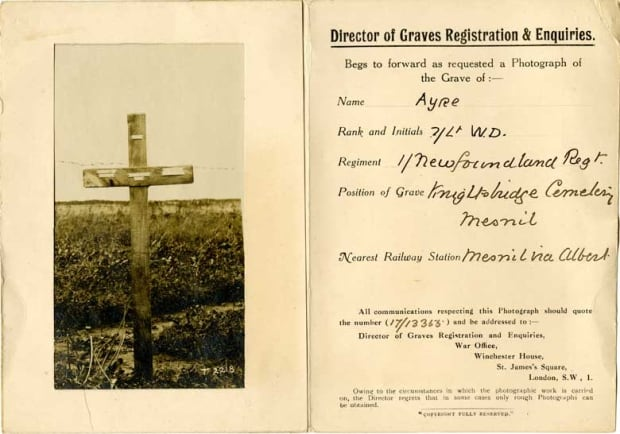 2nd Lt. Wilfrid Ayre's grave in France