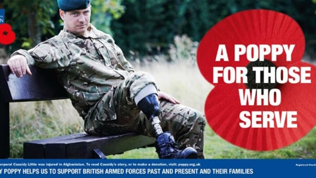 Corporal Cassidy Little lost part of his leg while he was on duty in Afghanistan.
