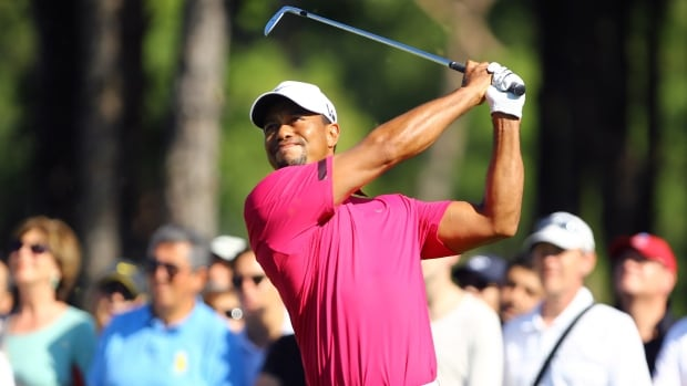 Tiger Woods tees off during the third round of the Turkish Open at the Montgomerie Maxx Royal Course in Antalya, Turkey on Saturday. (AP Photo/Kaan Soyturk)