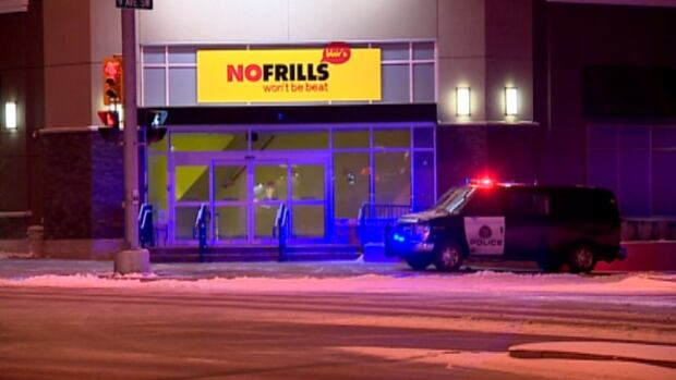 Police are searching for three suspects after a southwest Calgary grocery store was robbed late Sunday night.