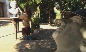 Veronica Dam de Negales bronze scultpture