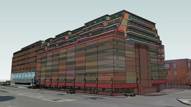 Sonco Group intends to remake the Atlantic Place Parking Garage, while adding three storeys to be used as either a hotel or for apartments.