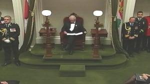 Throne speech