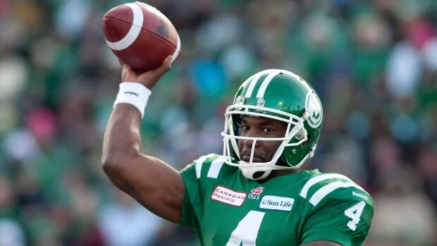 Roughriders quarterback Darian Durant completed 19 of 23 passes for 270 yards and two touchdowns in Sunday's 29-25 win over B.C. in the CFL West semifinal. He  also ran for 97 yards on six carries and was named the league's offensive player of the week on Tuesday.