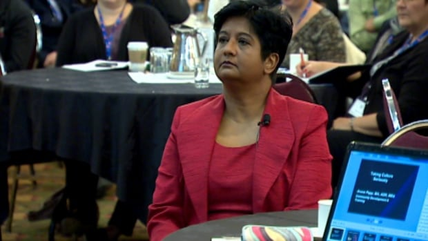 Aruna Papp spoke about honour-based violence at a conference in Calgary on Monday.