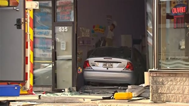 A woman in her 80s drove straight through the window of a daycare on St-Martin Boulevard in Laval, Que., injuring several children.