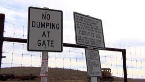 Landfill no dumping