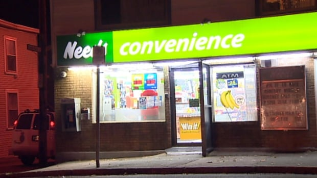 A woman tried to hold up this convenience store on Military Road on Tuesday evening, although she didn't get far.