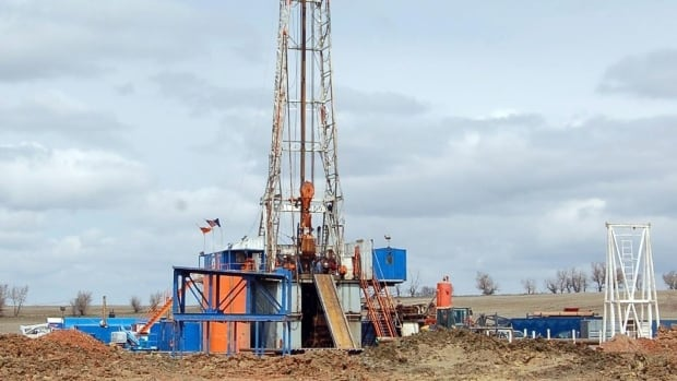 A drill rig owned by Enid, Okla.-based Continental Resources Inc. aims for oil from the Bakken Shale. Fracking is a technique for drilling for oil and gas with help of high pressure liquids.