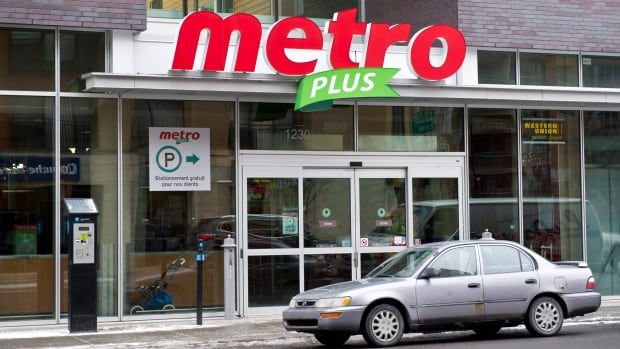 Montreal-based Metro is reporting falling sales amid stiff competition in the grocery sector. Loblaw also downgraded its outlook for 2013.
