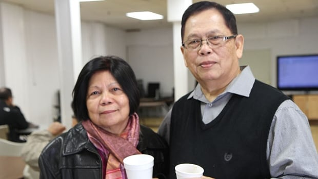 Lorie and Fel Marpa know their family in the Philippines are ok, but have not had contact with them yet. They attended Wednesday's fundraiser at the Hamilton Filipino Community Centre