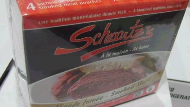 The 550 g packages of Schwartz's At Home Smoked Meat, with an expiry date of Dec. 13, could be contaminated with listeria.