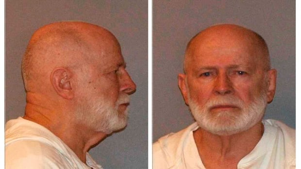 """Former mob boss and fugitive James """"Whitey"""" Bulger, who was arrested in Santa Monica, California on June 22, 2011 along with his longtime girlfriend Catherine Greig, is seen in a combination of booking mug photos released to Reuters on August 1, 2011."""