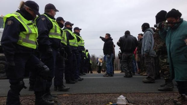 RCMP and protesters clashed on Highway 11 near Kouchibouguac National Park this week over controversial shale gas exploration in the Rexton, N.B., area.