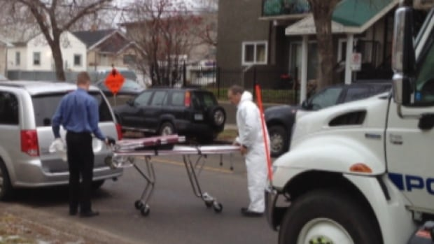 Medical examiner arrives at the scene of suspicious death in northeast Edmonton Friday morning.