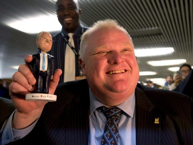 APTOPIX Canada Toronto Mayor Bobblehead