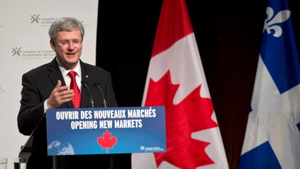 The European market is the biggest in the world, Prime Minister Stephen Harper told a business group that include former prime minister Brian Mulroney.