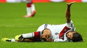 Sami Khedira of Germany injured himself during a friendly against Italy on Friday.
