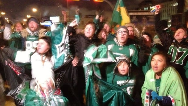 It was a wild scene along the Green Mile in Regina Sunday night after the Roughriders won the Western Conference Final to get to the Grey Cup.