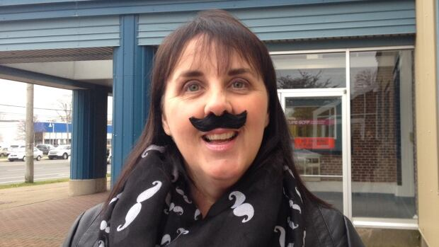 Debbie MacRury  is wearing a different fake moustache every day in November to help support the Movember campaign.