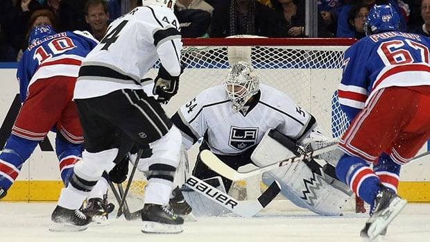 Kings goalie Ben Scrivens had a 0.66 goals-against average and .977 save percentage over a four-game stretch last week.