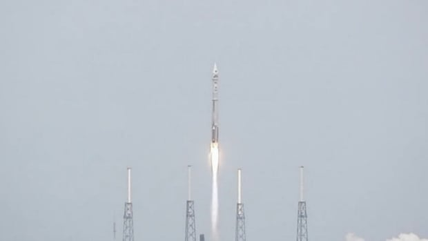 The MAVEN spacecraft blasted off from Cape Canaveral, Fla., Monday aboard an Atlas V rocket.