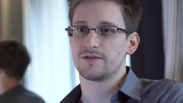 Former U.S. intelligence contractor Edward Snowden appeared on a video shown Friday night at the Munk debate in Toronto.