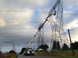 Crews repair tower